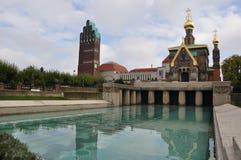 The Russian church, St. Mary Magdalene Chapel stock photos