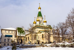 The Russian Church of St. Nicholas in Sofia Stock Photography