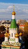 Russian Church St. Nicholas, Sofia, Bulgaria Royalty Free Stock Photos