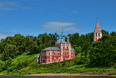 Russian church. Summer. A photo of ancient church in Russia. Summer Stock Photography