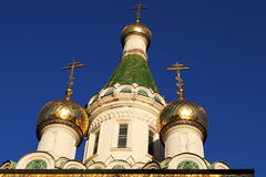 Russian church towers. Towers of Russian church in Sofia, detail Stock Image