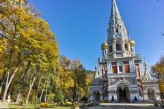 Russian church in town of Shipka, Stara Zagora Region. Bulgaria stock photography