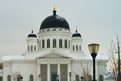 Russian church. In the winter Royalty Free Stock Photos
