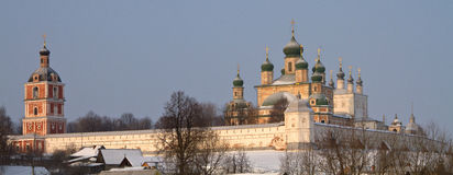 Russian church in winter time Royalty Free Stock Image