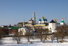 Russian church in winter time Royalty Free Stock Photography