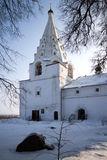 Russian church in winter time Stock Image