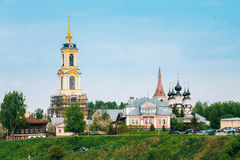 Russian churches in summer landscape in Suzdal Royalty Free Stock Photography