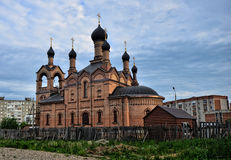 Russian churchin the city. Summer. A photo of ancient church in Russia. Summer Stock Image