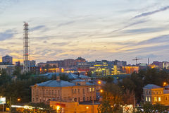 Russian city night Stock Images