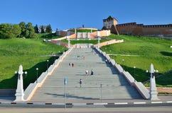 Russian city Nizhny Novgorod Royalty Free Stock Images