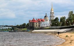 Russian city of Rybinsk Royalty Free Stock Image