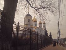 Russian cityscape. Russian city Bryansk scape Royalty Free Stock Image
