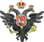 Russian coat of arms vector Royalty Free Stock Image