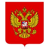 Russian coat of arms Stock Photography