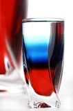 Russian cocktail. Cocktail in  colors of russian national flag Stock Images