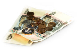 Free Russian Coin And Notes On A White Background Royalty Free Stock Photos - 68642958
