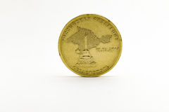 Russian coin. With the image of the Crimea Peninsula Stock Photos