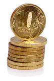 Russian coin stack Royalty Free Stock Image