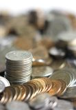 Russian coins. Photographed close up royalty free stock image