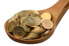Russian coins Stock Photo