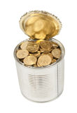 Russian coins in the can Royalty Free Stock Photos