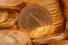 Russian coins closeup Stock Image