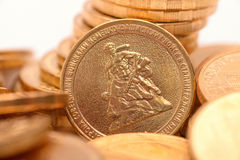 Russian coins closeup Stock Photography
