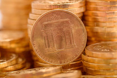 Russian coins closeup Royalty Free Stock Image