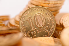 Russian coins closeup Stock Photo