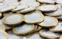 Russian coins money Royalty Free Stock Photos