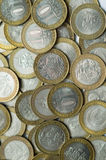 Russian coins 10 rubles Royalty Free Stock Photography