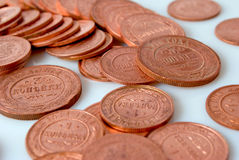 Russian coins of the time of the monarchy. Russian copper coin of the monarchy Stock Photo
