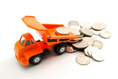 Russian coins and truck Royalty Free Stock Photo