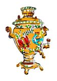 Russian colorful samovar, vector, tea Royalty Free Stock Photo
