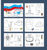Russian coloring book. Patriotic book for coloring. Russian Nati Royalty Free Stock Image