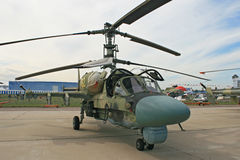 A Russian combat helicopter Ka-52 Stock Image