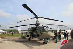 Russian combat helicopter KA 52 Stock Image