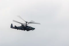 Russian combat helicopter KA 52 Royalty Free Stock Photos