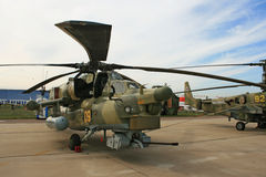 A Russian combat helicopter Mi-28 Royalty Free Stock Photos