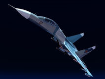 Russian combat plane Royalty Free Stock Images