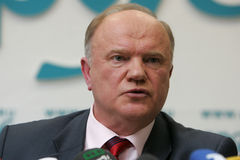 Russian communist leader Gennady Zyuganov Stock Images