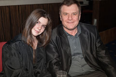 Russian composer Gennady Gladkov and his daughter Stock Photo