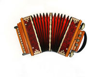 Russian concertina. Old russian concertina isolated on a white background Royalty Free Stock Photos
