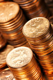 Russian cooper coins Stock Image