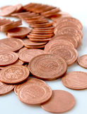 Russian copper coin of the monarchy. Stock Photo