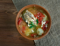 Russian Cossack fish soup Stock Photos