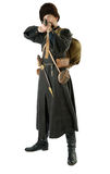 Russian Cossack points a rifle. Stock Photos