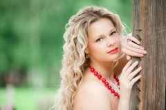 Russian country bride Stock Photography