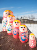 Russian country girls. (also known as matryoshka dolls Royalty Free Stock Image