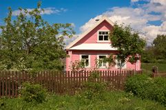 Russian Country House. Royalty Free Stock Photo
